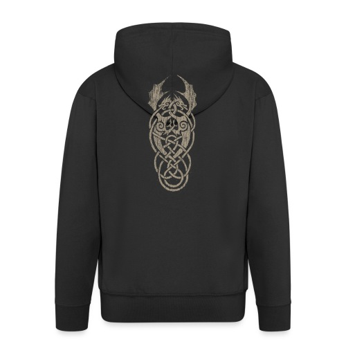 grey dragon knot - Männer Premium Kapuzenjacke