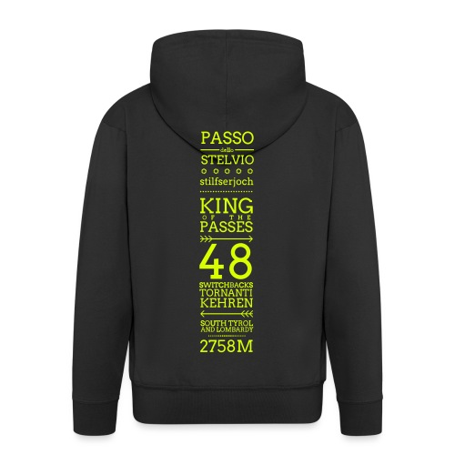 KING - Felpa con zip Premium da uomo