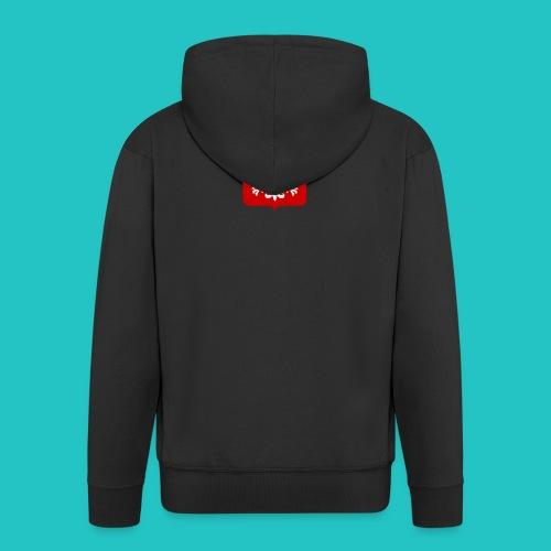 Koszulka z godłem Polski - Rozpinana bluza męska z kapturem Premium