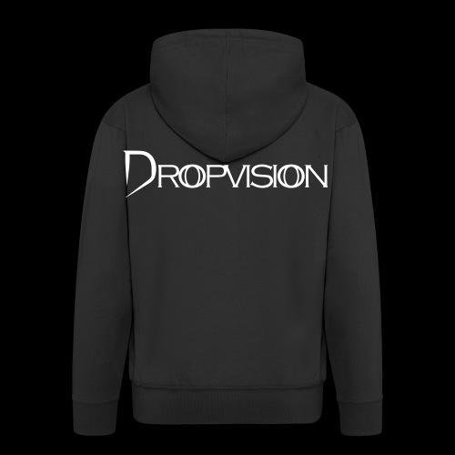 Dropvision Logo Vit - Premium-Luvjacka herr