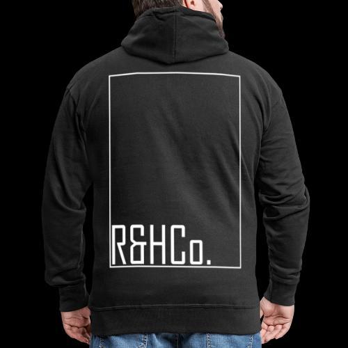 R&HCo. White Logo - Men's Premium Hooded Jacket