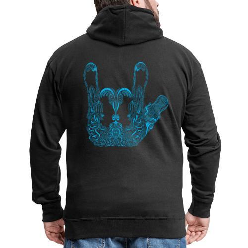 ILY Handzeichen Mandala - Männer Premium Kapuzenjacke