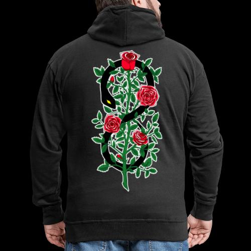 Thorns and Poison - Felpa con zip Premium da uomo