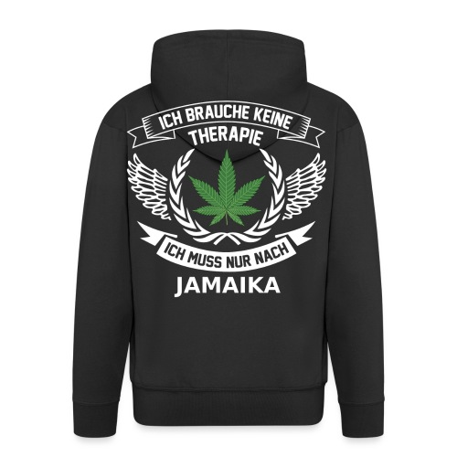 Jamaica Hanfblatt T-Shirt Urlaub - Männer Premium Kapuzenjacke