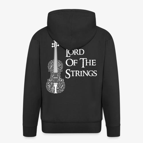 Lord of the Strings T-Shirt Englisch Violine - Männer Premium Kapuzenjacke