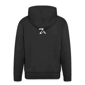 ZArt-white - Men's Premium Hooded Jacket