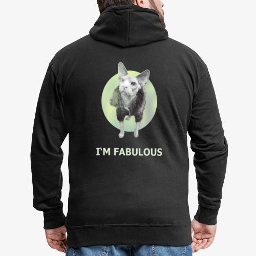 I'm fabulous with the Cat - Männer Premium Kapuzenjacke