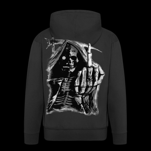Condemned Streetfighters Reaper - Men's Premium Hooded Jacket