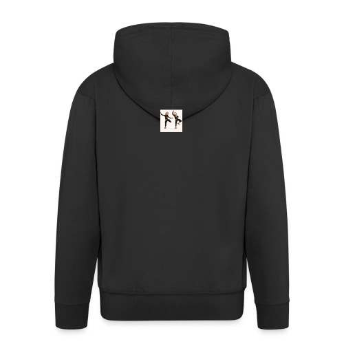 on the dabbing grind - Men's Premium Hooded Jacket