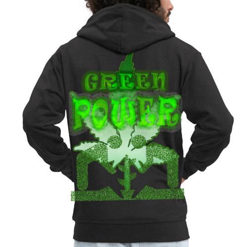 Green Power - Veste à capuche Premium Homme
