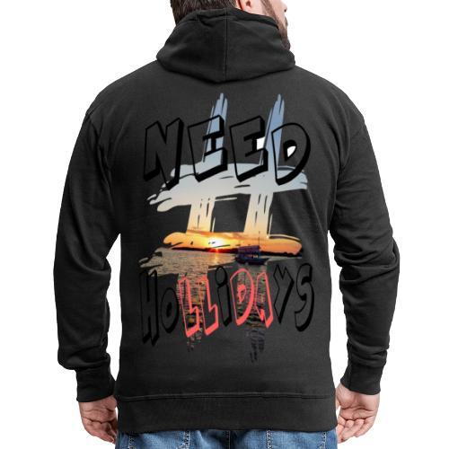 H-Tag Need Hollidays - Veste à capuche Premium Homme