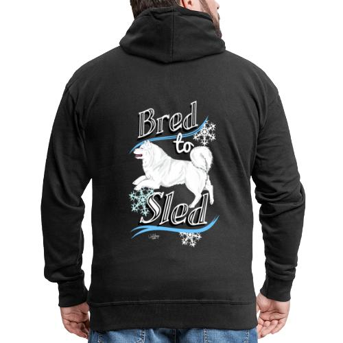 Samoyed Sled - Miesten premium vetoketjullinen huppari