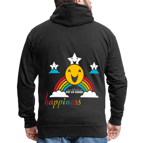 HAPPINESS - Miesten premium vetoketjullinen huppari