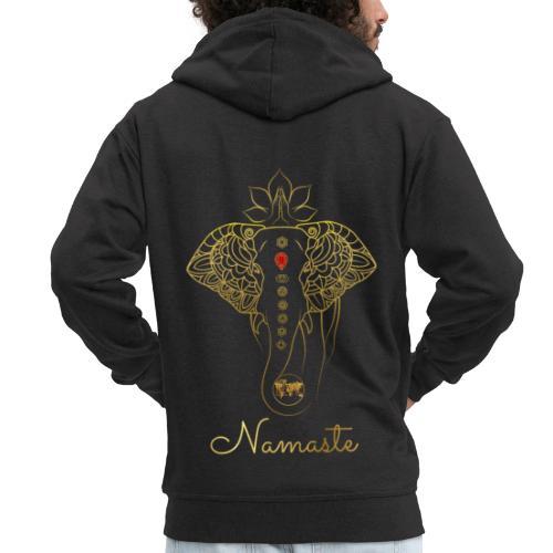 RUBINAWORLD - Namaste - Men's Premium Hooded Jacket