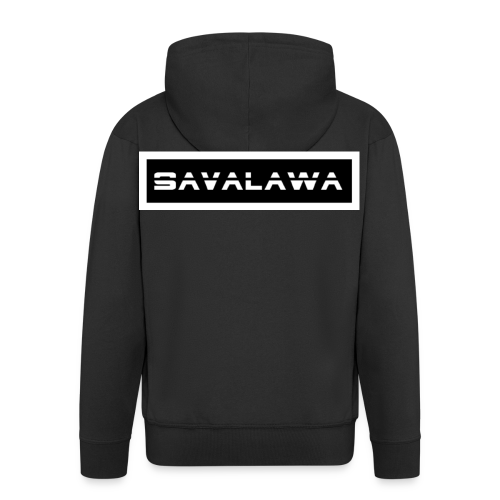 SavaLawa Schrift Schwarz/Weiß - Männer Premium Kapuzenjacke