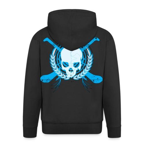 skullelectricblack - Men's Premium Hooded Jacket