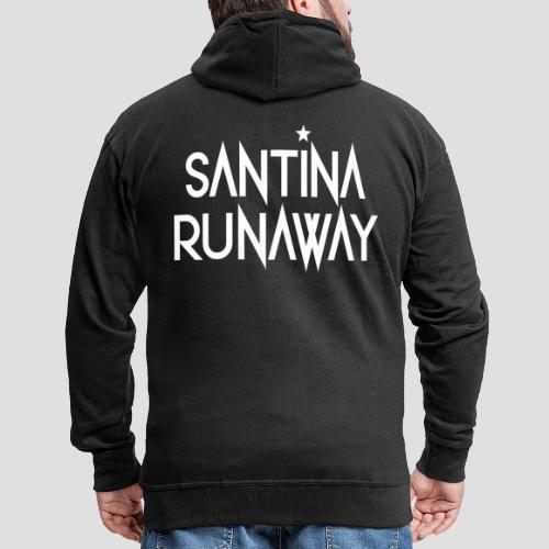 DJ Santina Runaway - Logo - Men's Premium Hooded Jacket