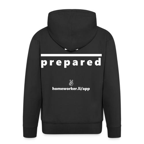 be prepared (weiß) - Männer Premium Kapuzenjacke