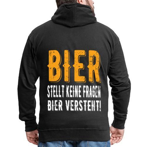 Bier stellt keine Fragen Bier verteht Vintage - Männer Premium Kapuzenjacke