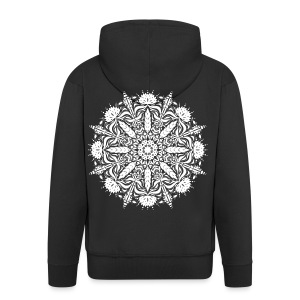 Leafy Mandala - Men's Premium Hooded Jacket