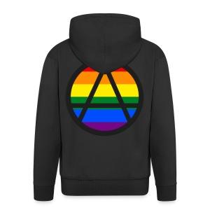 Logo ZELA drapeux gay - Veste à capuche Premium Homme