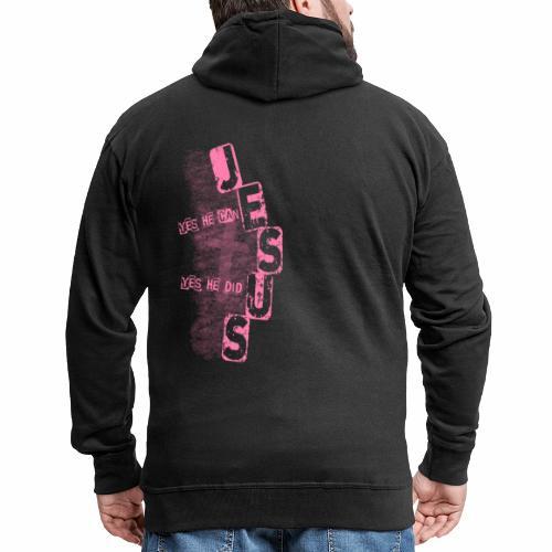 Jesus yes he can rosa - Männer Premium Kapuzenjacke