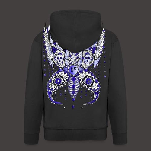Papillon Lilou Bleu - Veste à capuche Premium Homme