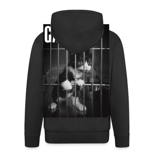 Gangsta cat - Veste à capuche Premium Homme