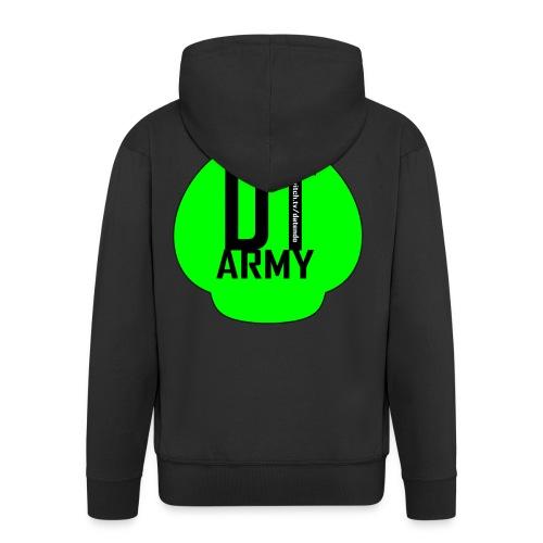 DT ARMY GREEN - Männer Premium Kapuzenjacke