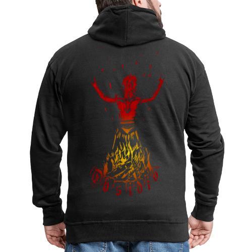 Obsidio Feuer Nexor - Männer Premium Kapuzenjacke