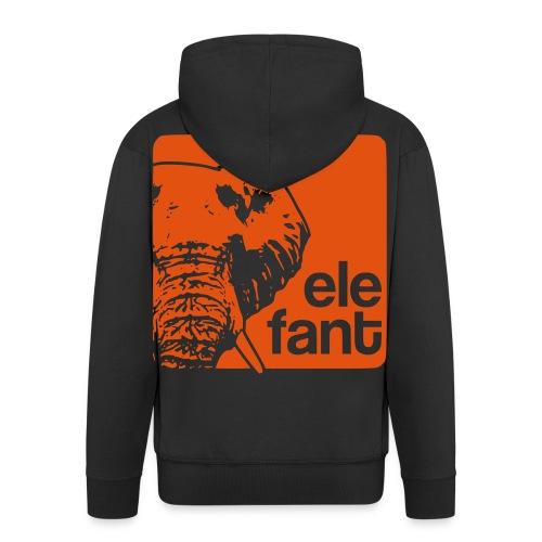 elefant groß - Männer Premium Kapuzenjacke
