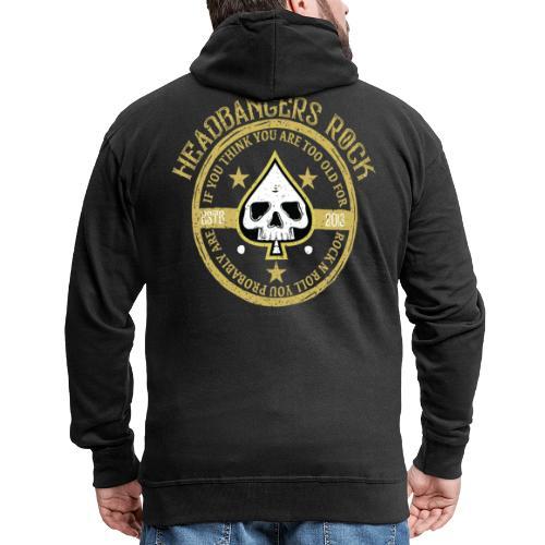 headbangersrock2019 skull - Herre premium hættejakke