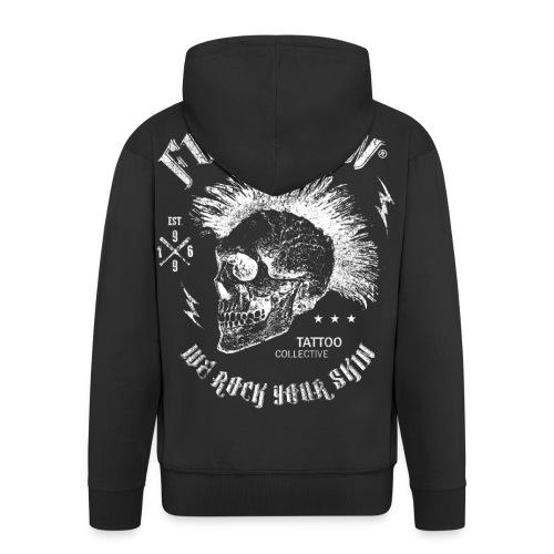 Fuck the Pain Skull Grunge - Männer Premium Kapuzenjacke