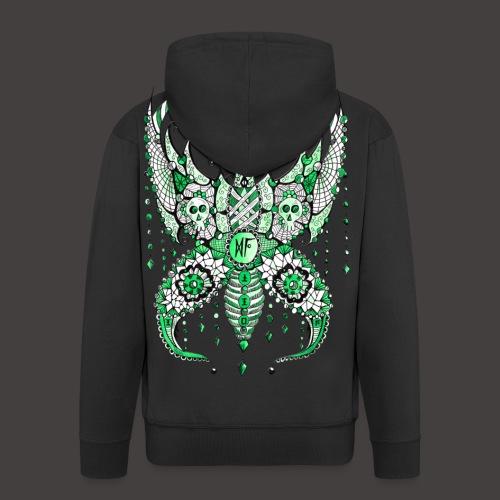 Papillon Lilou Vert - Veste à capuche Premium Homme