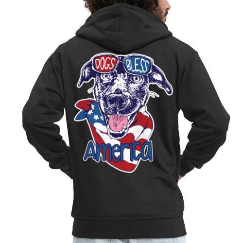 Hund und Hunde segnen Amerika Illustration - Männer Premium Kapuzenjacke