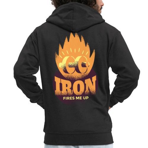 Eisen Feuer feuert mich an Bodybuilding Fitness - Männer Premium Kapuzenjacke