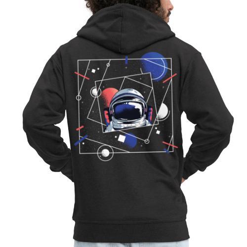 Beste Astronaut Weltraum Designs - Männer Premium Kapuzenjacke