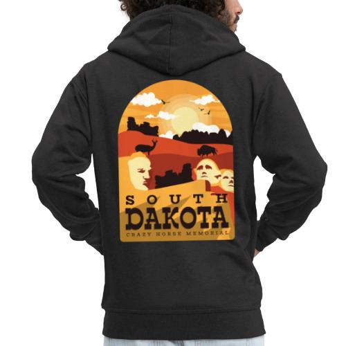 Cooles South Dakota Design online - Männer Premium Kapuzenjacke