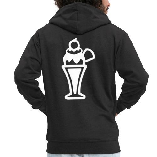 Eis und Eiscreme Symbol - Männer Premium Kapuzenjacke