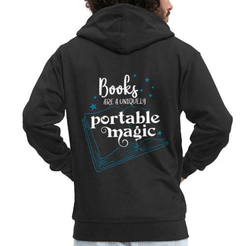0030 books are unique magic   Magic - Men's Premium Hooded Jacket