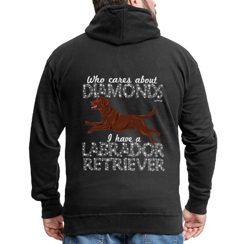 Labrador Ret Diamonds 2 - Miesten premium vetoketjullinen huppari