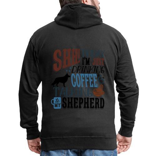 SHH GSD Coffee 5 - Miesten premium vetoketjullinen huppari