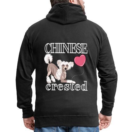 Chinese Crested I - Miesten premium vetoketjullinen huppari