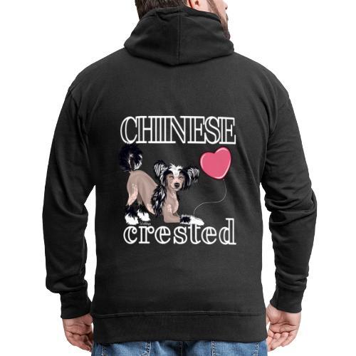 Chinese Crested III - Miesten premium vetoketjullinen huppari