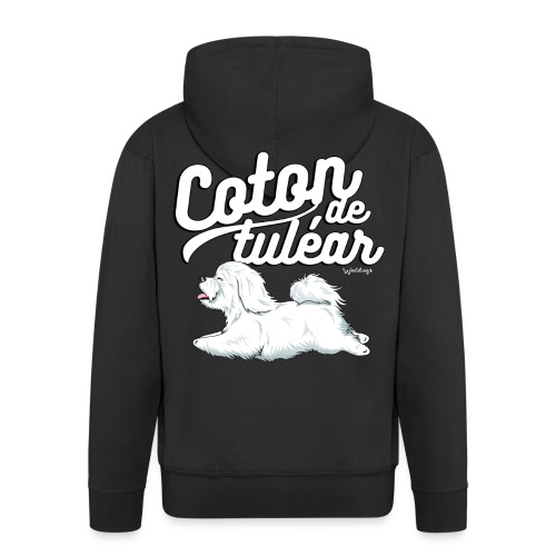 Coton De Tuléar 002 - Men's Premium Hooded Jacket