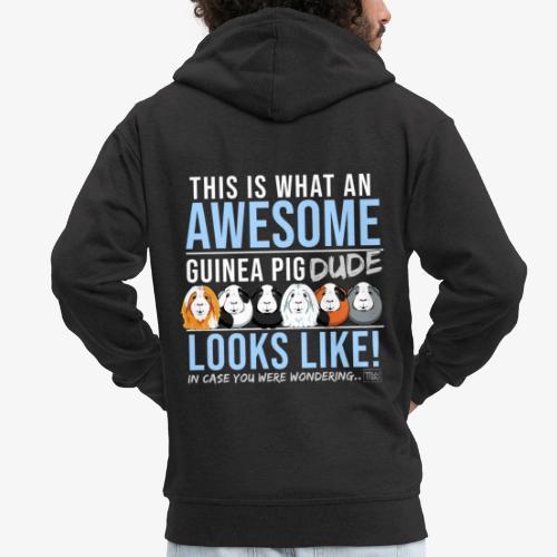 Guinea Pig Dude - Miesten premium vetoketjullinen huppari