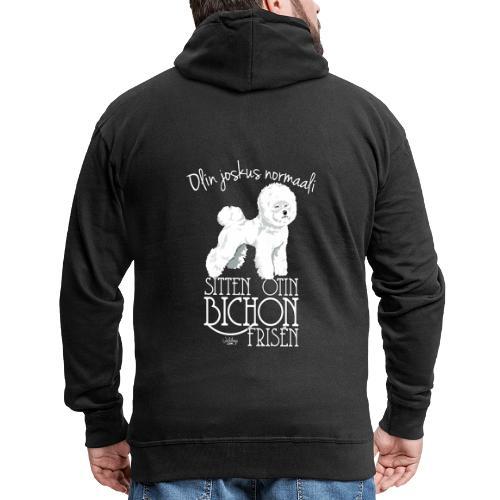 bichonnormaali - Miesten premium vetoketjullinen huppari