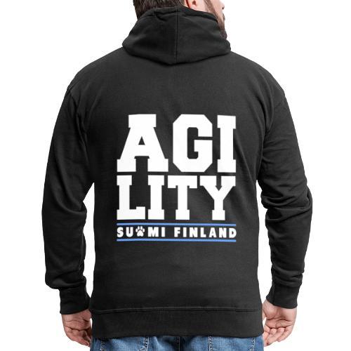 Agility Suomi - Miesten premium vetoketjullinen huppari