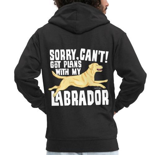 Labrador Plans My - Miesten premium vetoketjullinen huppari