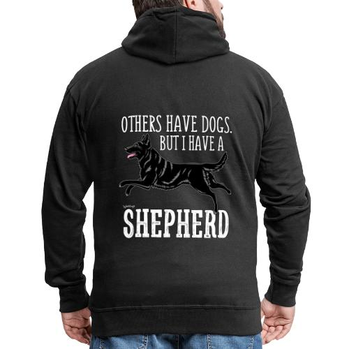 GSD Shepherd Dogs 3 - Miesten premium vetoketjullinen huppari